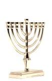 Hannukah de oro Menorah Imágenes de archivo libres de regalías