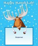 Hannukah_moose stock de ilustración