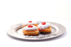 Hannukasymbolen Donuts Stock Afbeelding