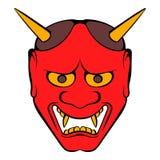 Hannya mask icon cartoon stock illustration