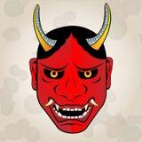 Hannya maskering, japansk tatuering Arkivbild