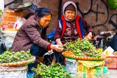 Hanoï, Vietnam - 13 février 2018 : Les marchands ambulants de la ville de Hanoï, la plupart des marchands ambulants utilisent la  photographie stock