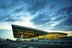 Hanoï, Vietnam - 10 juin 2017 : Noi Bai International Airport au crépuscule avec du T2 de Hall, le plus grand aéroport au Vietnam Photographie stock