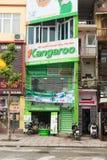 Hanoï, Vietnam - 15 mars 2015 : Magasin de ménage de kangourou en O Cho Dua C'est la marque populaire dans le ménage, champ domes Image libre de droits