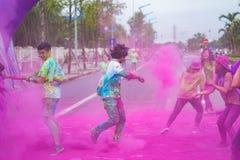 Hanoï, Vietnam - 23 septembre 2015 : La couleur publique courent l'événement dans la capitale de Hanoï Les centaines de personnes Photo libre de droits