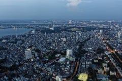 Hanoi Aerial in Evening Stock Photos