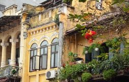 Hanoi archtecture in rain Royalty Free Stock Images