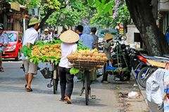 Hanoi Bicycle Street Vendors, Vietnam Stock Photo