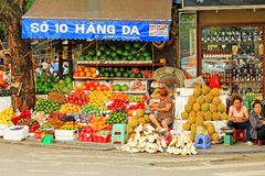 Hanoi Street Vendors, Vietnam Royalty Free Stock Images