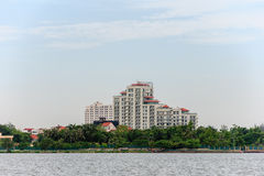 Hanoi cityscape at afternoon at West Lake Stock Image