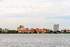 Hanoi cityscape at afternoon at West Lake Stock Photography