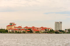 Hanoi cityscape at afternoon at West Lake Royalty Free Stock Photography