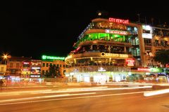 Hanoi Cityscape at Night, Hanoi Vietnam Stock Photo
