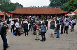 El templo de la literatura en Hanoi, Vietnam imagen de archivo libre de regalías