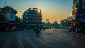 Hanoi del centro di mattina fotografie stock