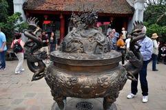 Tempelet av litteratur i Hanoi, Vietnam Arkivbilder