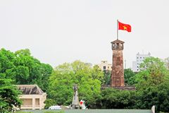 Hanoi Flag Tower In Imperial Citadel of Thăng Long, Vietnam UNESCO World Heritage royalty free stock photo