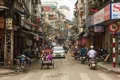 Hanoi gammal fjärdedel Fotografering för Bildbyråer