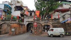 Hanoi gammal fjärdedel Arkivfoto