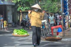hanoi gatasäljare royaltyfri bild
