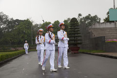 HANOI - Guard of honor. Change of the guard of honor at Ho Chi Minh mausoleum in Hanoi Stock Images