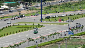 Hanoi Highway Daytime. Time Lapse of Busy Hanoi Highway from Above - Ho Chi Minh City Vietnam stock video