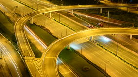 Hanoi Highway at Night. Night Time Lapse of Busy Hanoi Highway from Above - Ho Chi Minh City Vietnam stock video