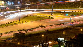 Hanoi Highway at Night. Time Lapse of the Busy Hanoi Highway at Night - Ho Chi Minh City Vietnam stock footage