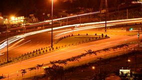Hanoi Highway at Night. Time Lapse of the Busy Hanoi Highway at Night - Ho Chi Minh City Vietnam stock video