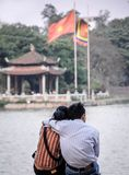 Hanoi Lovers embrace,Vietnam royalty free stock image