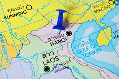 Hanoi mapa obraz stock