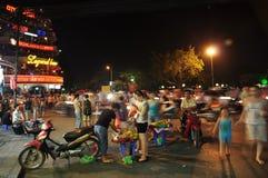 hanoi marknadsnatt royaltyfri bild