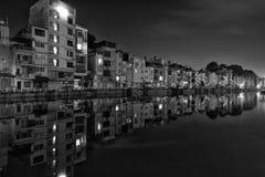 Hanoi by night. Street lake side in Hanoi Vietnam royalty free stock photography