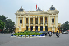 Hanoi October 25,2015 : Hanoi Opera House Royalty Free Stock Photo
