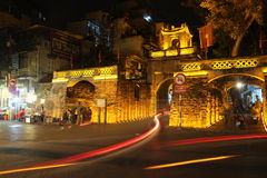 Hanoi Old city gate in the Old quarter, Vietnam Royalty Free Stock Photos