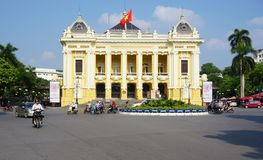 The Hanoi Opera House in Vietnam Royalty Free Stock Images