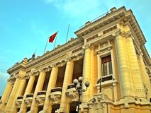 Hanoi Opera Theatre. The landmark in the French Quarter of Hanoi, Vietnam, which also a small-scale replica of the Palais Garnier, the older of Paris's two opera Royalty Free Stock Photos