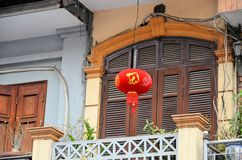 Hanoi red lamp Royalty Free Stock Photos