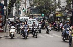 Hanoi ruch drogowy Zdjęcia Royalty Free