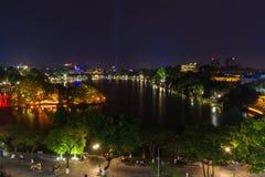 Hanoi skyline. Downtown of Hanoi, capital of Vietnam stock photo