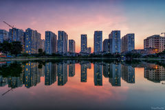 Hanoi skyline stock photography