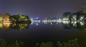 Hanoi-Stadt nachts Lizenzfreie Stockfotografie