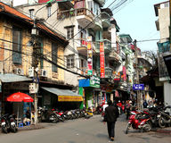 Hanoi Street Royalty Free Stock Photo