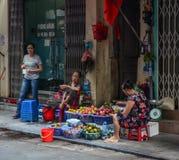 Hanoi street market royalty free stock photo
