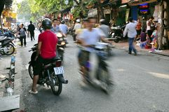 Hanoi Street Scene Royalty Free Stock Photography