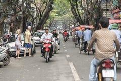 Hanoi street scene Stock Images