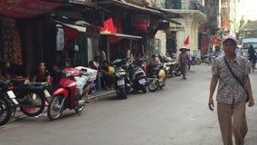 Hanoi town in autumn stock footage
