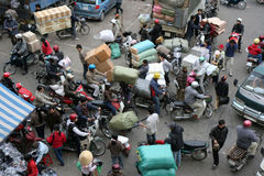 Hanoi traffic Royalty Free Stock Photo