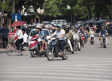 Hanoi traffic Stock Photography