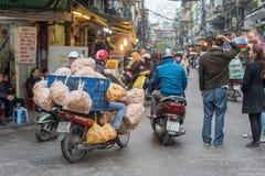 Hanoi traffic Royalty Free Stock Images